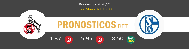 Colonia vs Schalke 04 Pronostico (22 May 2021) 1