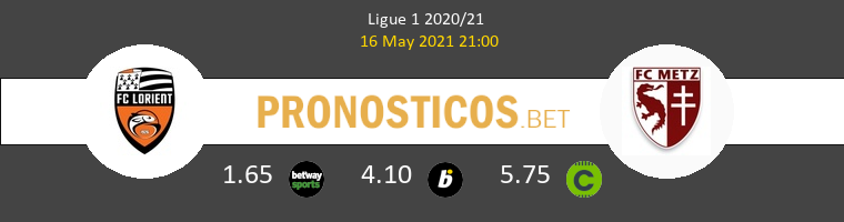 Lorient vs Metz Pronostico (16 May 2021) 1