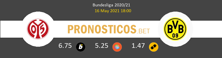 Mainz 05 vs Dortmund Pronostico (16 May 2021) 1