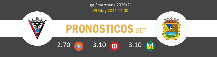 Mirandés vs Fuenlabrada Pronostico (9 May 2021) 1