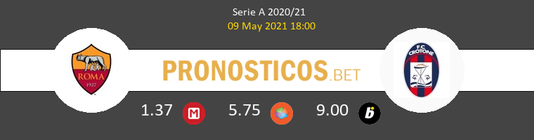 Roma vs Crotone Pronostico (9 May 2021) 1