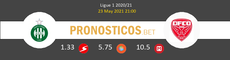 SaintvÉtienne vs Dijon FCO Pronostico (23 May 2021) 1