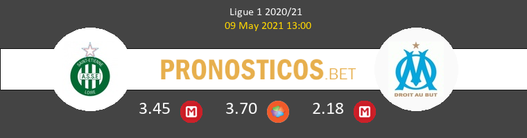 SaintvÉtienne vs Marsella Pronostico (9 May 2021) 1