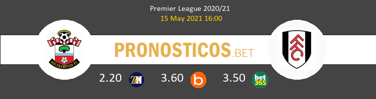Southampton vs Fulham Pronostico (15 May 2021) 1