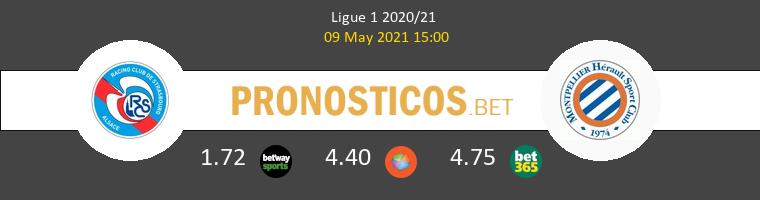 Strasbourg vs Montpellier Pronostico (9 May 2021) 1