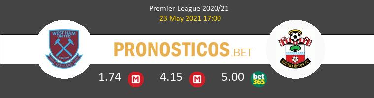 West Ham vs Southampton Pronostico (23 May 2021) 1