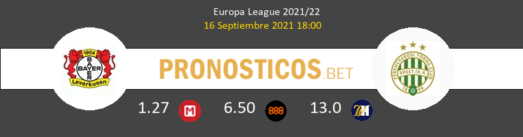 Leverkusen vs Ferencvárosi Pronostico (16 Sep 2021) 1
