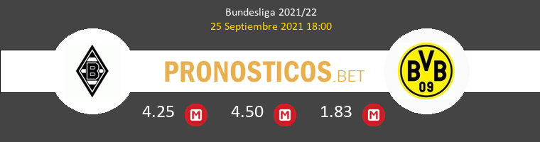 B. Mönchengladbach vs Borussia Pronostico (25 Sep 2021) 1