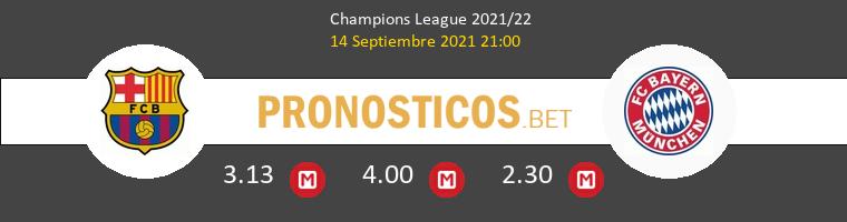 Barcelona vs Bayern Munich Pronostico (14 Sep 2021) 1