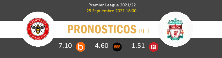 Brentford vs Liverpool Pronostico (25 Sep 2021) 1