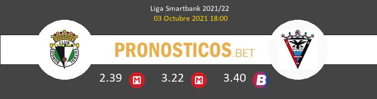 Burgos vs Mirandés Pronostico (3 Oct 2021) 1
