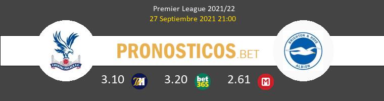 Crystal Palace vs Brighton Hove Albion Pronostico (27 Sep 2021) 1