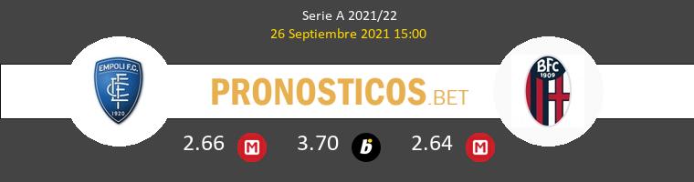 Empoli vs Bologna Pronostico (26 Sep 2021) 1
