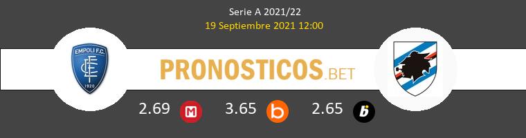 Empoli vs Sampdoria Pronostico (19 Sep 2021) 1