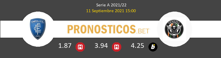 Empoli vs Venezia Pronostico (11 Sep 2021) 1