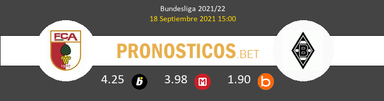 FC Augsburg vs B. Mönchengladbach Pronostico (18 Sep 2021) 1