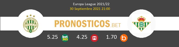 Ferencvárosi vs Real Betis Pronostico (30 Sep 2021) 1