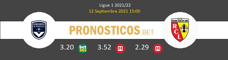 Girondins Bordeaux vs Lens Pronostico (12 Sep 2021) 1