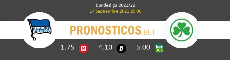 Hertha Berlin vs Greuther Fürth Pronostico (17 Sep 2021) 1
