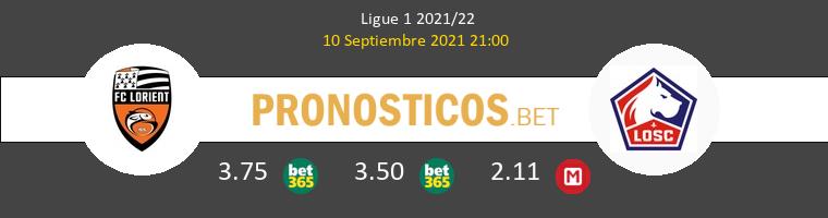 Lorient vs Lille Pronostico (10 Sep 2021) 1