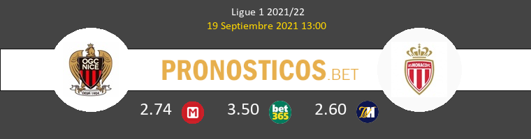 Niza vs Monaco Pronostico (19 Sep 2021) 1