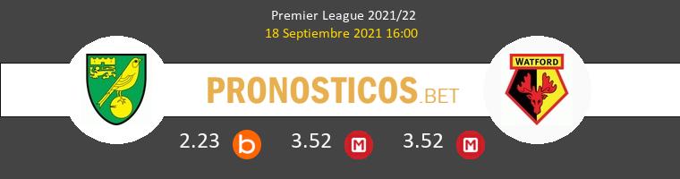 Norwich City vs Watford Pronostico (18 Sep 2021) 1