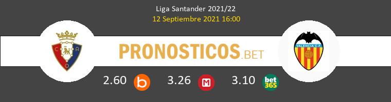 Osasuna vs Valencia Pronostico (12 Sep 2021) 1