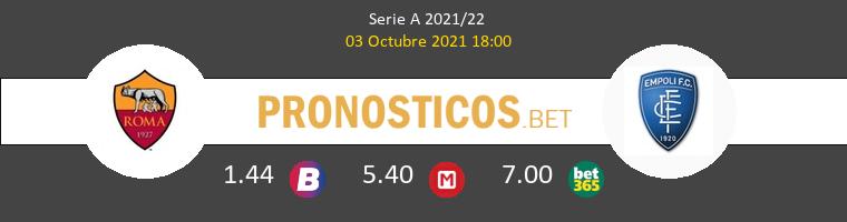 Roma vs Empoli Pronostico (3 Oct 2021) 1