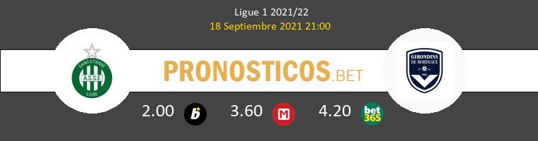 SaintvÉtienne vs Girondins Bordeaux Pronostico (18 Sep 2021) 1