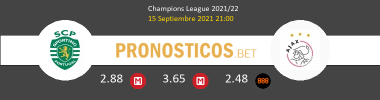 Sporting CP vs Ajax Pronostico (15 Sep 2021) 1