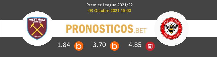 West Ham vs Brentford Pronostico (3 Oct 2021) 1