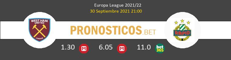 West Ham vs Rapid Wien Pronostico (30 Sep 2021) 1