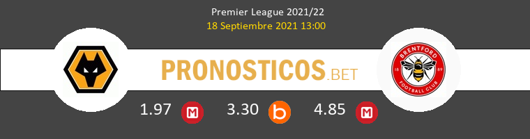 Wolverhampton vs Brentford Pronostico (18 Sep 2021) 1