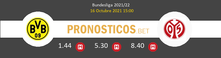 Borussia vs Mainz 05 Pronostico (16 Oct 2021) 1