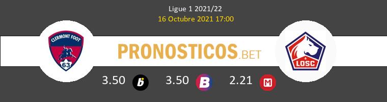 Clermont vs Lille Pronostico (16 Oct 2021) 1