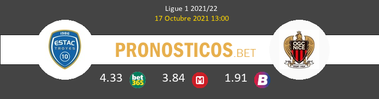 Troyes vs Nice Pronostico (17 Oct 2021) 1